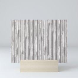 Slate Violet Gray SW9155 Vertical Grunge Abstract Line Pattern Mini Art Print