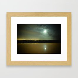 Lake Behind the City Framed Art Print