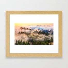 Coastal Fog Over Mount Tamalpais Framed Art Print