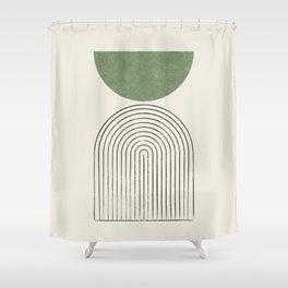 Arch balance green Shower Curtain