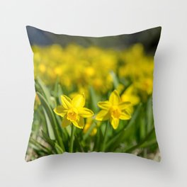 Tiny Daffodils Throw Pillow