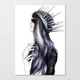 Ice Queen // Fashion Illustration Canvas Print