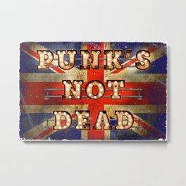 Punk's not Dead - GB Metal Print