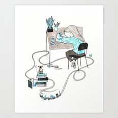 Work & Play Art Print