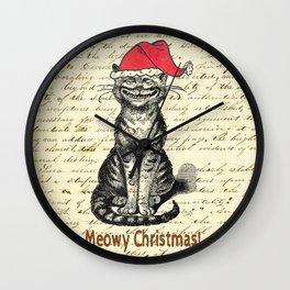 Meowy Christmas Holiday Kitty Wall Clock