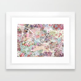 Pittsburgh map - Landscape Framed Art Print