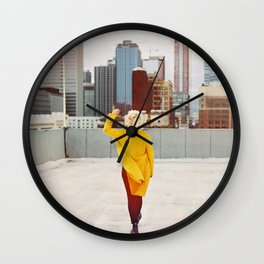 Psychedelic Blues Wall Clock