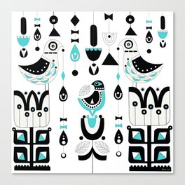 Soul Birds And Moondrops Canvas Print