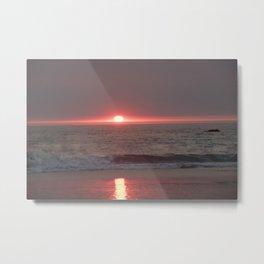 sun sleeping in the sea Metal Print