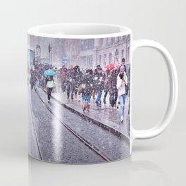 Trams in the snow Coffee Mug
