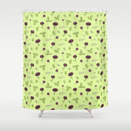 Birdy Roses pattern 3 Shower Curtain