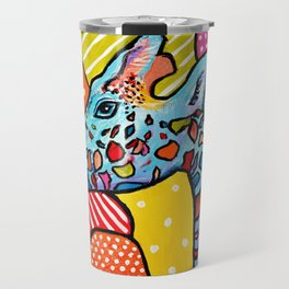 Colorful Giraffe Travel Mug