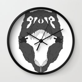 T-Rex Skull Wall Clock