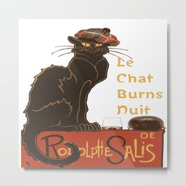Le Chat  Burns Nuit With Haggis and Dram Metal Print
