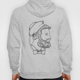 Old sailor wearing a bow tie Hoody