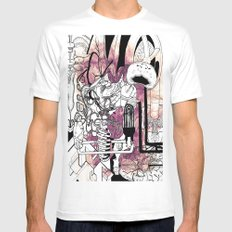 Missing Parts MEDIUM Mens Fitted Tee White