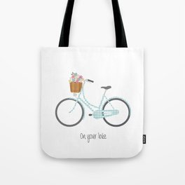Pedal Power in blue Tote Bag