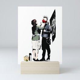 Banksy, Anarchist Punk And His Mother Artwork, Posters, Prints, Bags, Tshirts, Men, Women, Kids Mini Art Print