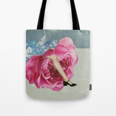 The Lady who Lived in Roses Tote Bag