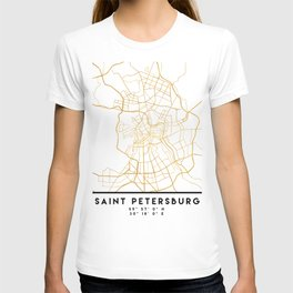 SAINT PETERSBURG CITY STREET MAP ART T-shirt