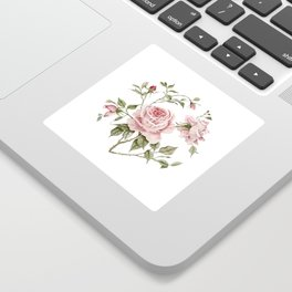 Pink Roses – Original Watercolor Sticker