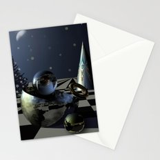 A magical Christmas Night, digital 3D art Stationery Cards