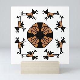 Shamanic Pattern No 01 Mini Art Print