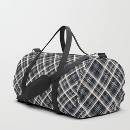 Squares and rectangles under the slope, checkered pattern. Duffle Bag