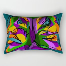 Duality Rectangular Pillow