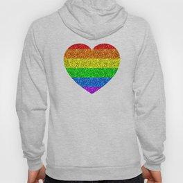 LGBT flag vibrant rainbow glitter sparkles Hoody