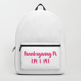 Thanksgiving Day Math Teacher Pumpkin Pie Pi 3.14 Mirrored Backpack