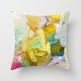 Lots of Feelings Abstract Painting Throw Pillow