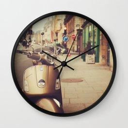 Vespa in Paris Wall Clock