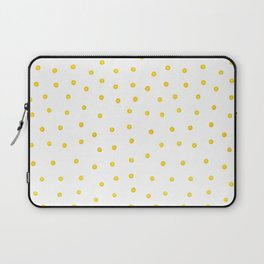 Yellow polka dots Laptop Sleeve