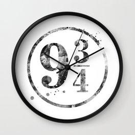 9 3/4 Wall Clock