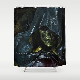 Tomorrow Is In Your Hand  Higgs Death Stranding Shower Curtain