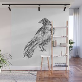 Black Bird  Wall Mural