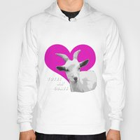 totes Hoodies featuring Totes Ma Goats Pink by BACK to THE ROOTS