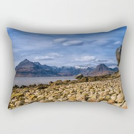 The Cuillin from Elgol, Isle of Skye Rectangular Pillow
