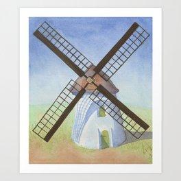 Cape Town Windmill Art Print