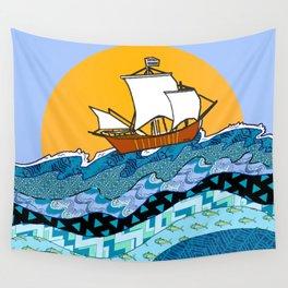 Sailing the High Seas Wall Tapestry