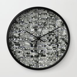 Knowing Wink (P/D3 Glitch Collage Studies) Wall Clock