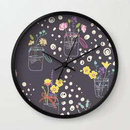 Twigs in Jars Wall Clock