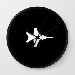 F-18 Hornet Fighter Jet Wall Clock