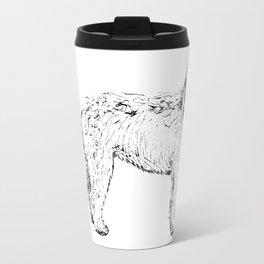 Labradoodle/Goldendoodle Ink Drawing Travel Mug