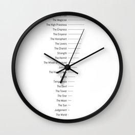 Tarot Major Arcana - The Fool's Morning Coffee Wall Clock