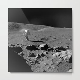 Apollo 17 - Astronaut Running Metal Print