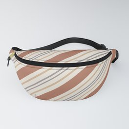 Cavern Clay SW 7701 and Accent Colors Thick and Thin Angled Lines Triple Stripes 1 Fanny Pack