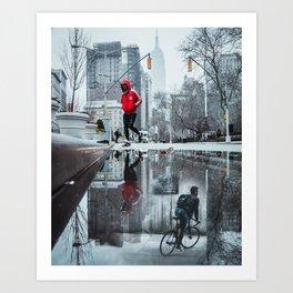 underground biker Art Print