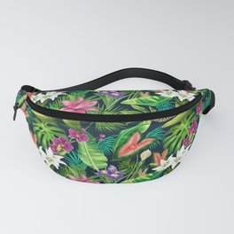 Tropical Lush Sanctuary, A Bohemian Paradise Fanny Pack